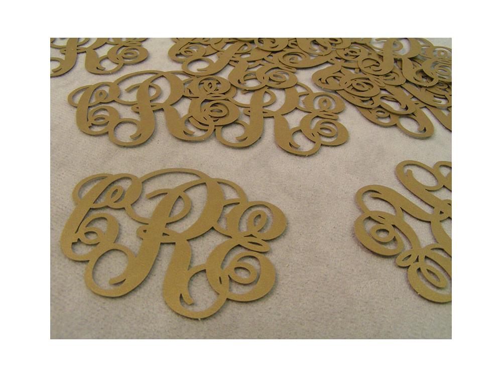 Paper Monograms for Wedding