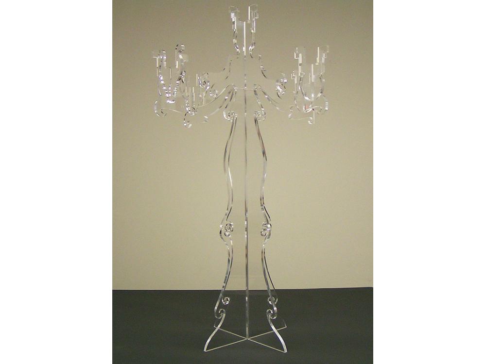 Clear Acrylic Candelabra For Wedding