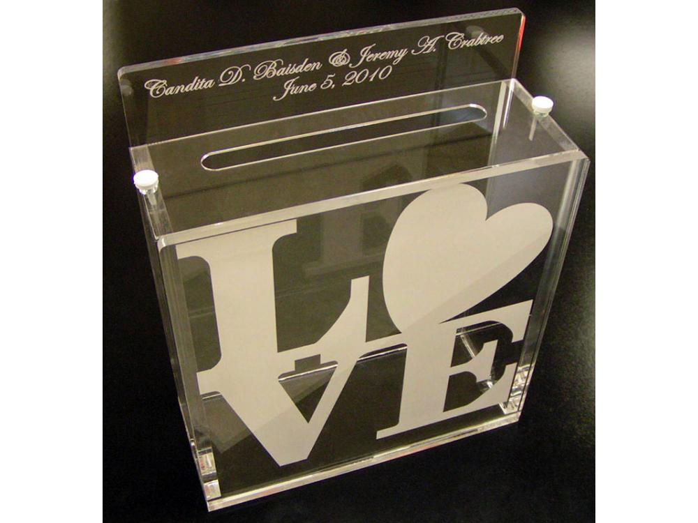 Custom Acrylic Wedding Box
