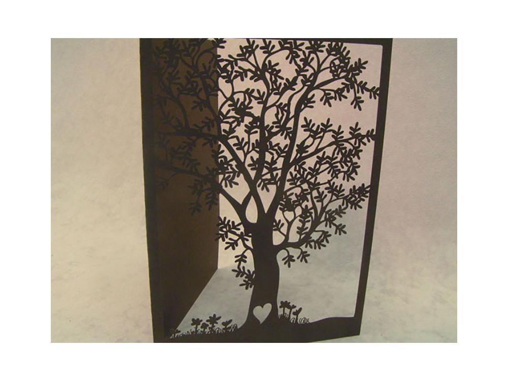 Laser Cut Paper Tree Card