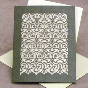RSVP Card - Barcelona - Ionized Grey