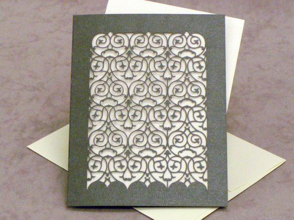 RSVP Card - Barcelona - Ionized Grey