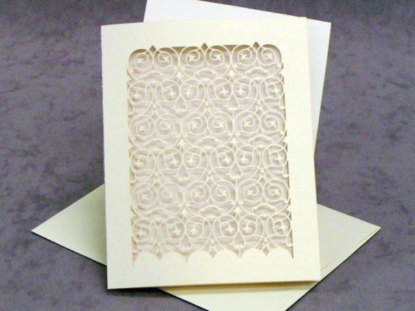 RSVP Card - Barcelona - White Gold