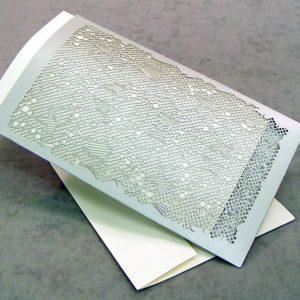Art Deco - Invitation Sleeve Grande - Lustre Silver