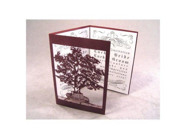 Lovers Tree Wedding Invitation Card