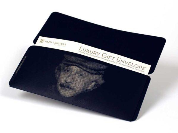 Gift Envelope & Card Holder - Albert Einstein - Black