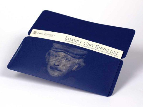 Gift Envelope & Card Holder - Albert Einstein - Navy Blue