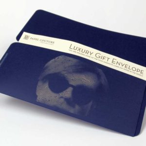Gift Envelope - Card Holder - William Shakespear - Andy Warhol - Navy Blue