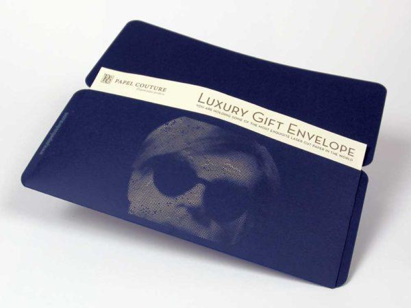 Gift Envelope - Card Holder - William Shakespear - Andy Warhol - Navy Blue