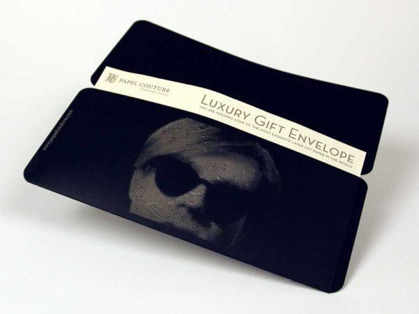 Gift Envelope - Card Holder - William Shakespear - Andy Warhol - Black