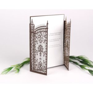 Antique Iron Gatefold Card