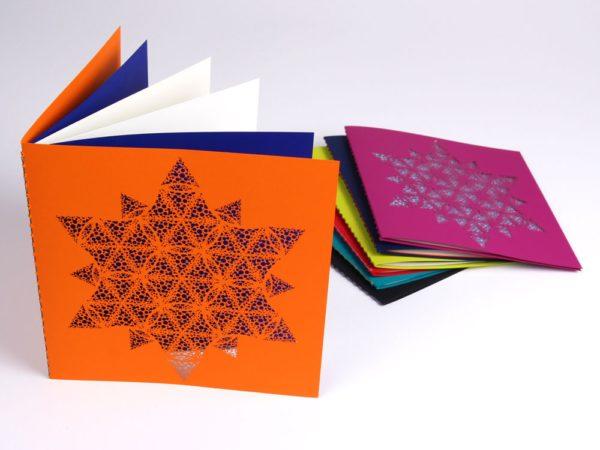Snowflake dots card
