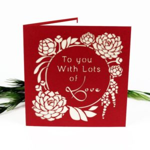 Valentine's Day Card: Lots Of Love-Succulent Garden