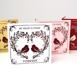 Valentine's Day Card: Hearts Forever-Birds and Branches